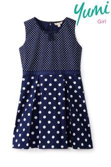 Yumi Girl Spot Print Skater Dress