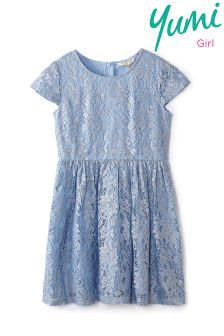 Yumi Girl Foiled Lace Dress