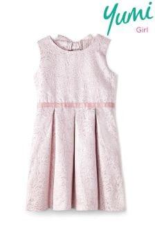Yumi Girl Rose Metallic Prom Dress