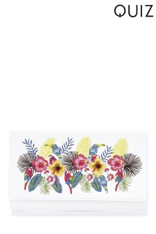 Quiz embroidered Clutch Bag