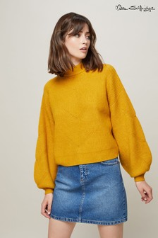 Miss Selfridge Balloon Sleeve Rib Jumper