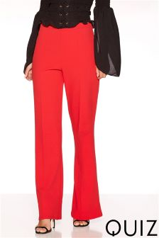 Quiz Crepe Wide Leg Palazzo Tailored Trouser