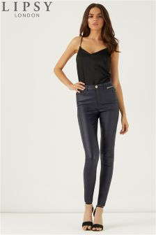 Lipsy Kate Long Length Coated Jeans