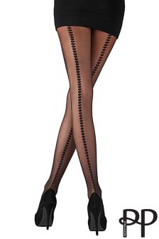 Collants Pretty Polly avec coutures apparentes en cœurs