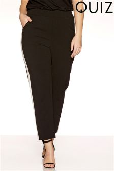 Quiz Curve Stripe Trousers