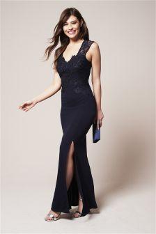Appliqué Maxi Dress