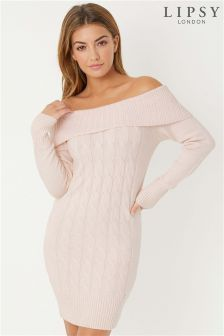 Lipsy Cable Bardot Tunic Dress