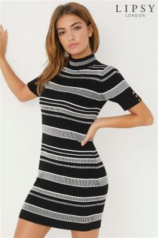 Lipsy Stripe Rib Dress
