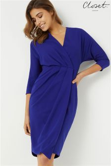 Closet Wrap Over Jersey Dress