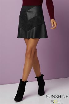 Sunshine Soul Suedette Mini Skirt