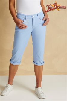 Joe Browns Womens Capri Pants With Embroidery Detail