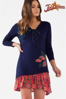 Joe Browns Long Sleeve Tunic Top With Contrast Hem