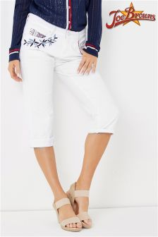 Joe Browns Capri Pants With Embroidery Detail