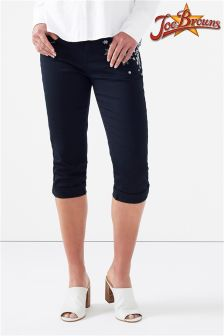 Joe Browns Capri Pants With Floral Embroidery