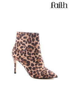 Faith Leopard Ankle Boots