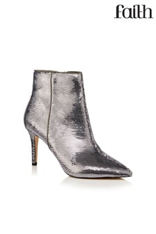 Faith Sequin Ankle Boots
