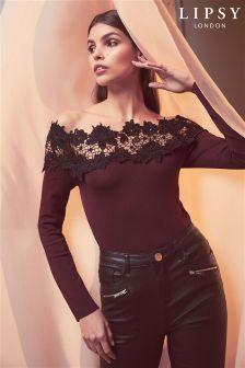 Lipsy Lace Bardot Jumper