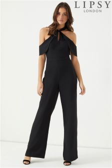 Lipsy Twist Halter Neck Jumpsuit