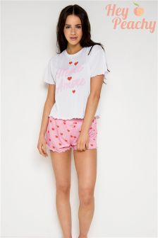 Пижамный комплект с оборками Hey Peachy Amore More