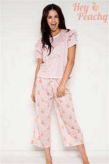 Hey Peachy Peaches & Cream Long Pyjama Set