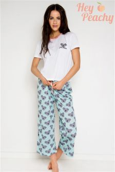 Hey Peachy Just Chillin Koala Long Pyjama Set
