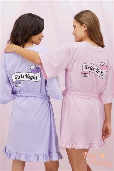 Hey Peachy Girls Night Robe