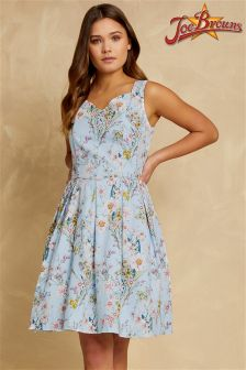 Joe Browns Womens Sleeveless Occasion Tea Dress With Sweetheart Neckline