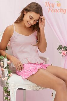 Hey Peachy Bride To Be Cami And Shorts Set