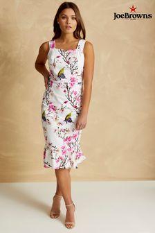 Damska sukienka bodycon z krótkim rękawem Joe Browns, z nadrukiem w kwiaty