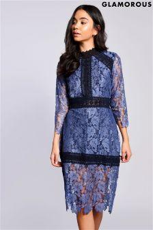 Кружевное облегающее платье Glamorous