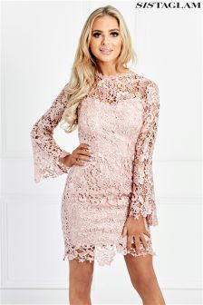 Sistaglam Lace Fitted Dress