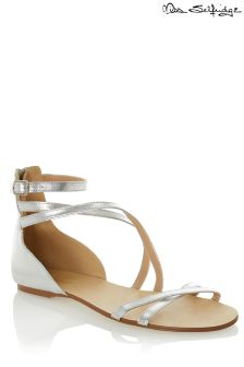 Miss Selfridge Strappy Metallic Flat Sandals