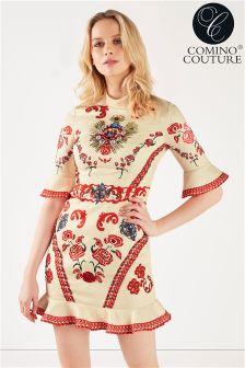 Comino Couture Vintage Peplum Dress