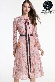Comino Couture Lace Midi Dress