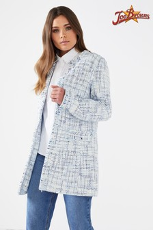 Joe Browns Smart Collarless Tweed Coat