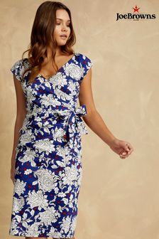 Joe Browns Sleeveless Bodycon Dress In All Over Floral Print