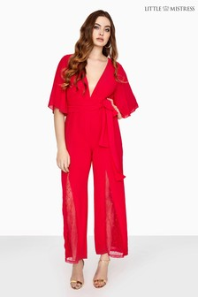 Little Mistress Curve Wide Leg Jumpsuit