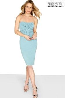 שמלה צמודה עם פפיון קדמי של Girls On Film