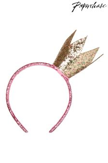 Paperchase Glitter Crown Headband