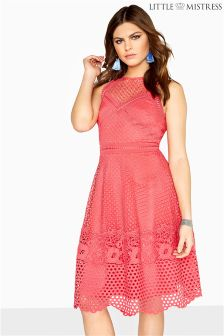 Little Mistress Lace Sleeveless Skater Dress