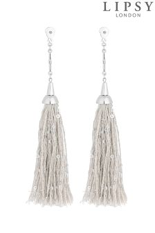 Lipsy Sequin And Thread Polished Bar Tassel Earrings