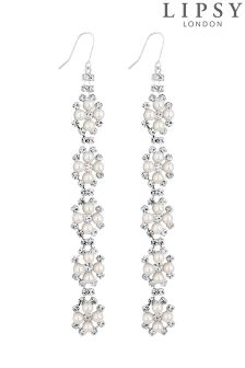 Lipsy Dia And Pearl Linear Earrings