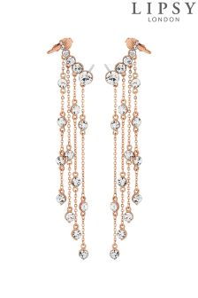 Lipsy Crystal Fringe Ear Cuffs