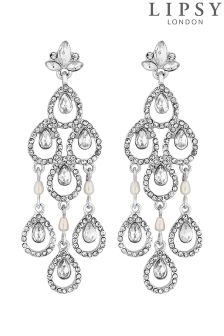 Lipsy Bridal Statement Pear Chandalier Earrings