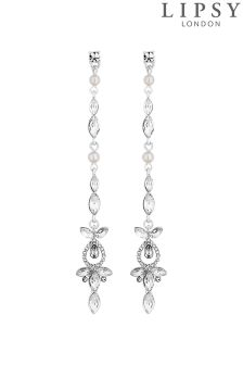 Lipsy Bridal Crystal And Pearl Drop Earrings