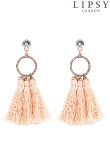 Lipsy Hoop Blush Drop Earrings