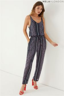 Mela London Drawstring Printed Jumpsuit