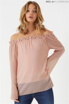 Mela London Pearl Bardot Top