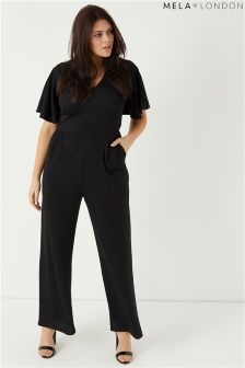 Mela London Curve Fluted Sleeve Jumpsuit