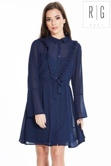 Rage Frill Detail Long Sleeve Dress